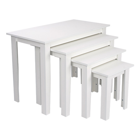 White and Wood Nest of Tables